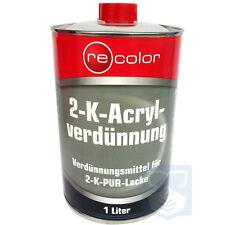 Verdünner Acryllack Recolor 2K Acrylverdünnung 1L/5L für Klarlack Autolack