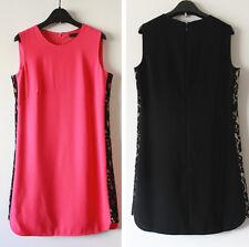 New $338 BCBG Maxazria Onyx Lace Side Panel Dress, Fushia, Black, Final Sale!