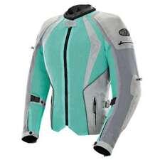 Joe Rocket Ladies Cleo Elite Mint Green Silver Mesh Waterproof Motorcycle Jacket
