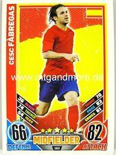 Match Attax Euro EM 2012 - #162 Cesc Fabregas - Spanien