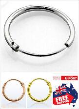 1pc S925 Sterling Silver 18g Sleeper Hoop Ring Lip Nose Ear Pircing Three Colors