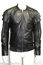 Men's Witch Hunter Style Black Movie Soft Lambskin Gothic Napa Leather Jacket