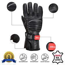ALL SIZES Leather Motorbike Motorcycle Gloves Biker Waterproof Windproof Thermal