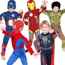Boys Licensed Marvel Avengers Superhero Halloween Kids Fancy Dress Costumes