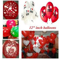 10-100 pièces forme coeur blanc couleur rouge ballons AIR / Hélium ST.VALENTIN