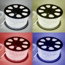 Tira de LED 220V 240V IP67 Impermeable 3528 Luces comercial Cuerda Blanco Cálido, Azul