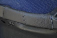 Accoppiamenti Fiat Stilo Pelle 2x PORTA MANIGLIA copre BLACK Stitch