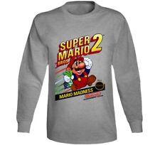 Super Mario Bros 2 Retro Video Game Long Sleeve T Shirt