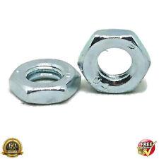 M8 8mm THIN HALF LOCK NUTS HEXAGON METRIC NUT BRIGHT ZINC PLATED DIN 439