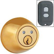 Remote Controlled Wireless Door Lock DEADBOLT-RF- Brass