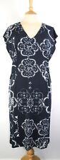 NEXT Print Jersey Dress Side Waist Adjust  Cap Sleeve V Neck Navy mix