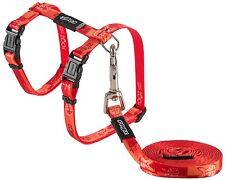 Rogz Cat Harness and Lead KiddyCat XS S Orange Lime Pink