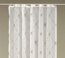 Voile Dekoschal Faith Gardine weiß Vorhang Blumenmuster ca. 140x245 cm