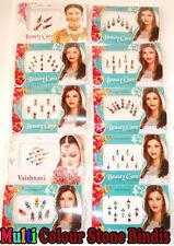 5x7 Assorted Bindi packets Indian Bindi Maroon Multi Color Stone -Uk Seller