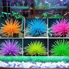 Silicone Aquarium Fish Tank Decor Artificial Coral Plant Underwater Ornament sT