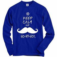 Keep Calm And Ho Ho Ho Santa Moustache Adult Christmas Jumper Sweatshirt