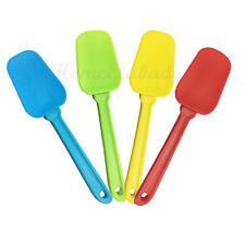 Silicone Flexible Cake Spoon Spatula Mixer Red, Yellow, Blue, Green, Baking Tool