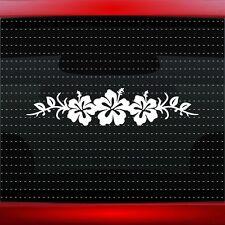Hibiscus #8 Hawaiian Flower Cute Car Decal Window Sticker Plumeria (20 COLORS!)
