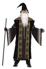 Wizard Merlin Medieval Sorcerer Deluxe Fancy Dress Up Adult Halloween Costume