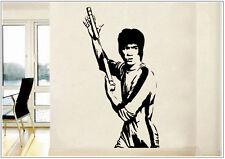 Wandtattoo wandaufkleber wandsticker photo  Porträt Bruce Lee Kongfu wph36
