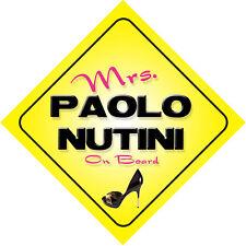 Frau Paolo Nutini an Bord Auto Zeichen nur das Ticket