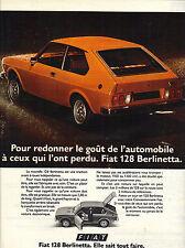 PUBLICITE  1975   FIAT 128  elle sait tout faire la BERLINETTA