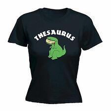 Tesauro T-Rex comer Libro Para Mujer camiseta Regalo De Cumpleaños Dinosaurio Lindo Geek Nerd
