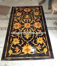 Marble Dining Side Table Top Rare Mosaic Inlaid Pietradura Decorative Art H2875