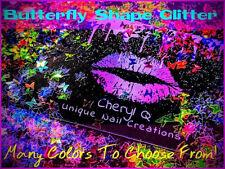 Butterfly Glitter�U Choose Color~Nail Art•Acrylic•Gel•Bod y Art•Face•Festival