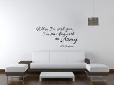 Ellie Goulding Music Lyrics wall art sticker Bedroom Lounge Home