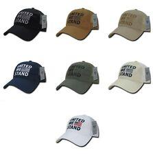 United We Stand American Flag Usa Us Military Polo Trucker Baseball Ball Hat Cap