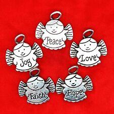 3 x Tibetan Silver Cute Angel Love Faith Hope Joy Peace Charm Pendant Making