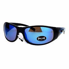 Mens Choppers Sunglasses Flaming Eagle Design Oval Wrap Frame UV 400