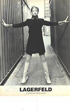 """PUBLICITE 1996   LAGERFELD haute couture """" entre deux murs""""l"""
