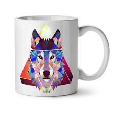 Wolf Geometric Fashion NEW White Tea Coffee Mug 11 oz   Wellcoda