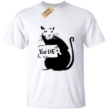 Kids Boys Girls You Lie Rat Banksy T Shirt Tee Cool Street Art Hipster Graffiti