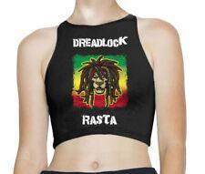 Dreadlock Rasta Reggae Sleeveless High Neck Crop Top
