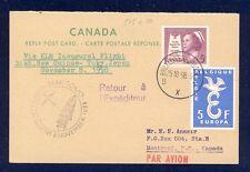 45699) KLM Polar FF Biak - Tokio 8.11.58, reply card AK ab Canada RR!!