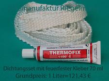 Reparaturset Kamin-u. Ofendichtung Breite:10 mm  Dicke:2 od. 3 mm, Länge:2 m