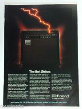 retro magazine advert 1980 ROLAND bolt amp