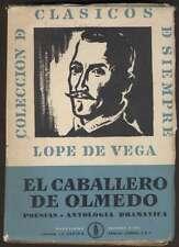 Lope De Vega Book El Caballero De Olmedo 1ºEd 1961