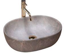 Waschbecken Keramik Waschtisch Spüle Aufsatzwaschbecken LARA BEIGE Oval Rea