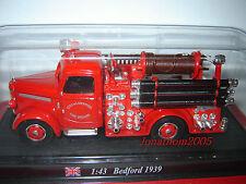 BEDFORD 1939 FIRE BRIGADE LIVERPOOL SAPEURS POMPIERS au 1/43°