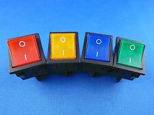 Einbau Wippschalter, 2 polig (4pin) 16A 250~ 28.5*21.9mm Rot, Gelb, Grün, Blau