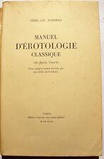 CURIOSA/MANUEL D'EROTOLOGIE CLASSIQUE/FORBERG/1932