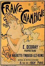 France Champagne Debray Paris Poster Print
