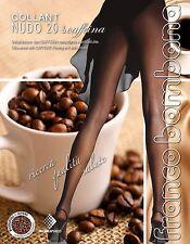 FRANCO BOMBANA COLLANT NUDO 20 DEN & CAFFEINA   Velatissimo TUTTONUDO con CAFFE 