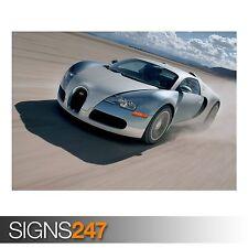 BUGATTI SUPER CARS 2 (AB147) CAR POSTER - Photo Poster Print Art A0 A1 A2 A3 A4