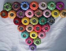 30 ANCHOR Vareigated Pearl Cotton Balls. Size 8, 30 nice Colours, Bargain