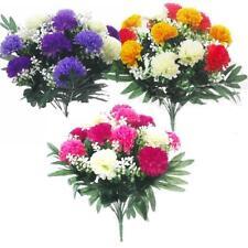 Artificial Chrysanthemum Bush - Pink / Orange Yellow / Purple - Choose Type
